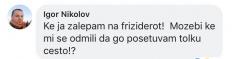 """""""Стока стара порано се носеше во кланица или на пазар за стока""""-Говор на омраза поради пол и род на Фејсбук објава на Миленко Неделковски."""