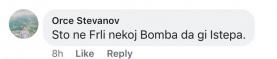 """""""Што не фрли некој бомба да ги истепа."""" """"Хитлер врати се"""""""