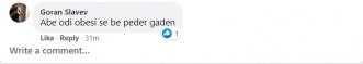 Говор на омраза на фејсбук по објавена изјава од македонски водител - Штип